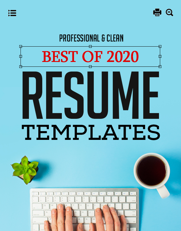 28 Best CV / Resume Templates with Cover Letter