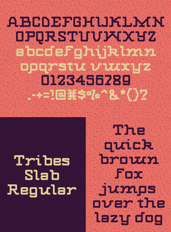 Tribes Font Letters