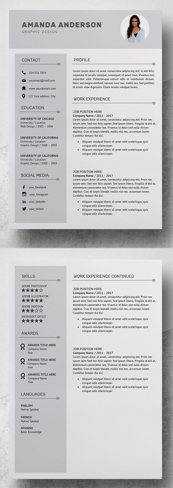 Simple Resume | CV Template + Cover Letter