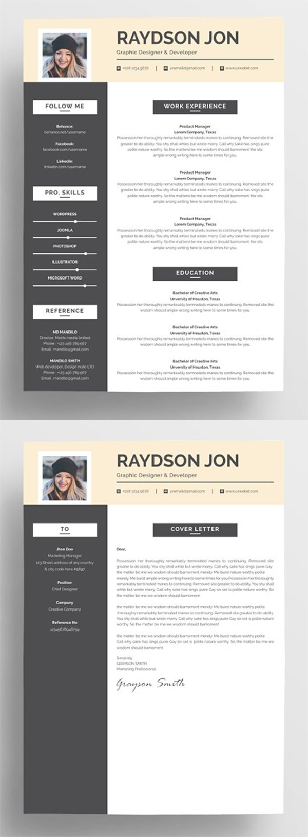 Best Resume Template & Cover Letter