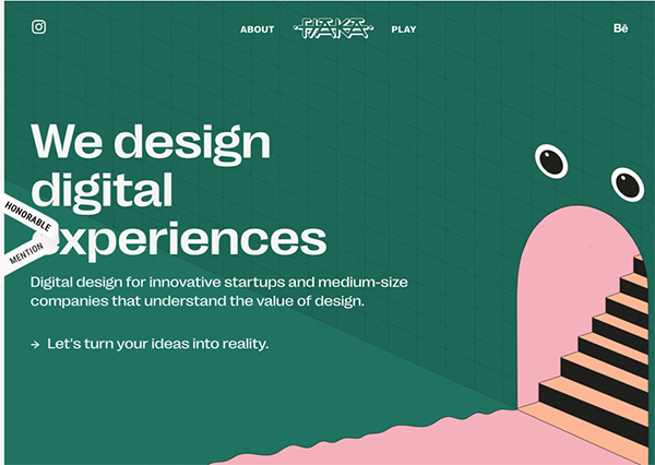 Fjaka - Digital Agency - Illustation in Website Design