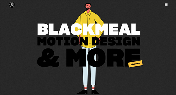 Blackmeal - Illustation in Website Design