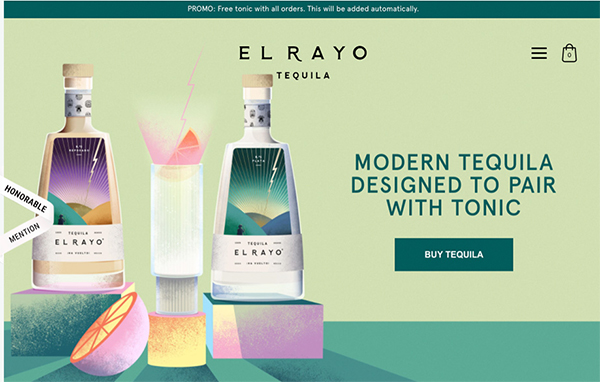El Rayo - Illustation in Website Design
