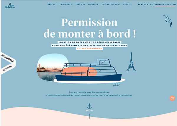BateauMonParis - Illustation in Website Design