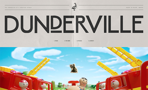 Dunderville - Illustation in Website Design