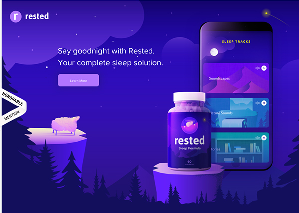 Rested - Illustation in Website Design