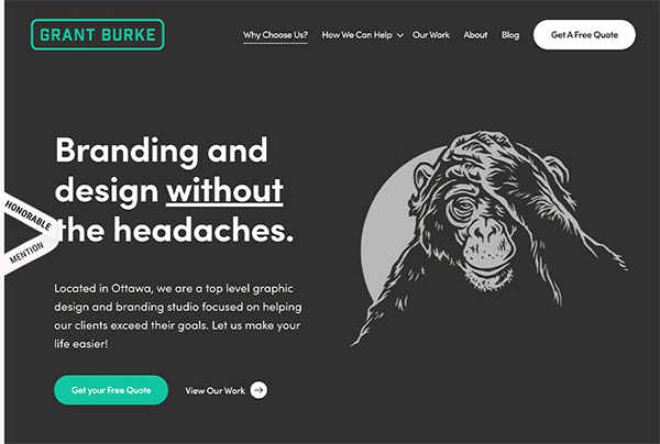 Grant Burke - Illustation in Website Design