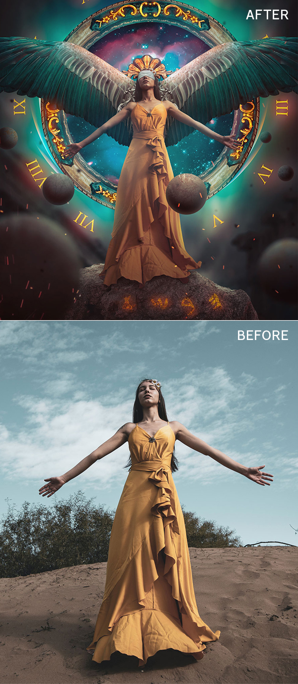 How to Convert Photography into Advanced Fantasy Portrait in Photoshop Tutorial