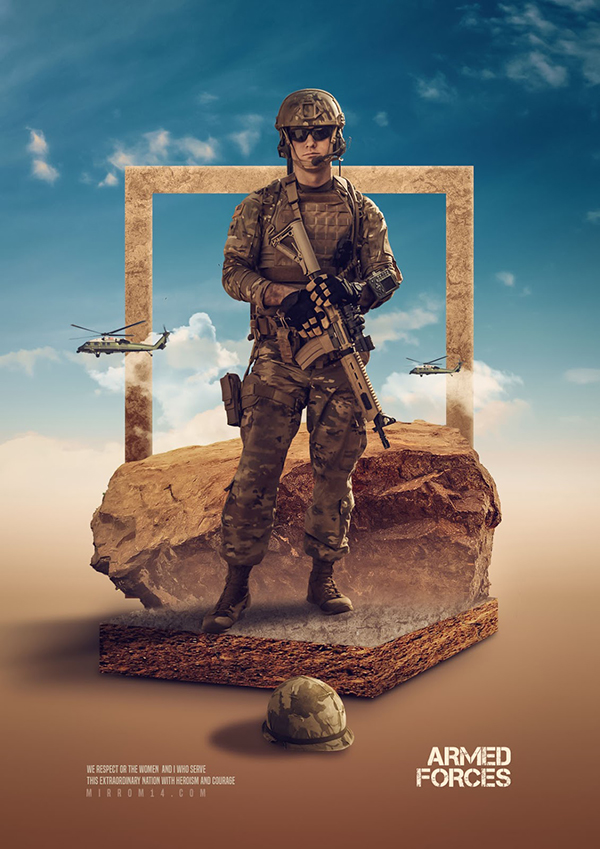 Create an Armed Forces Advanced Photo Manipulation in Photoshop