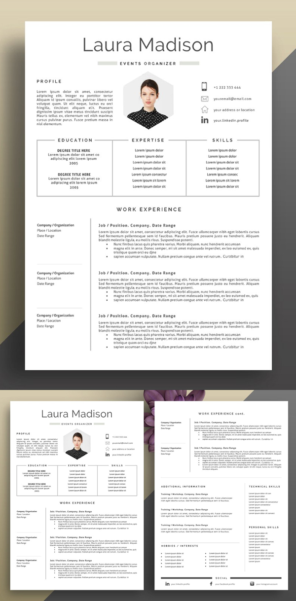 Perfect Resume Template + Cover Letter