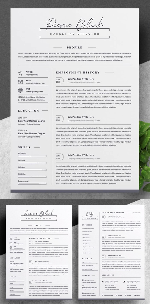Creative Clean Resume / CV Template