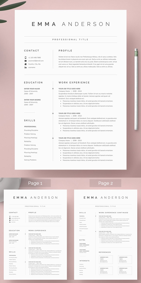 Professional Word Resume & Cover Letter