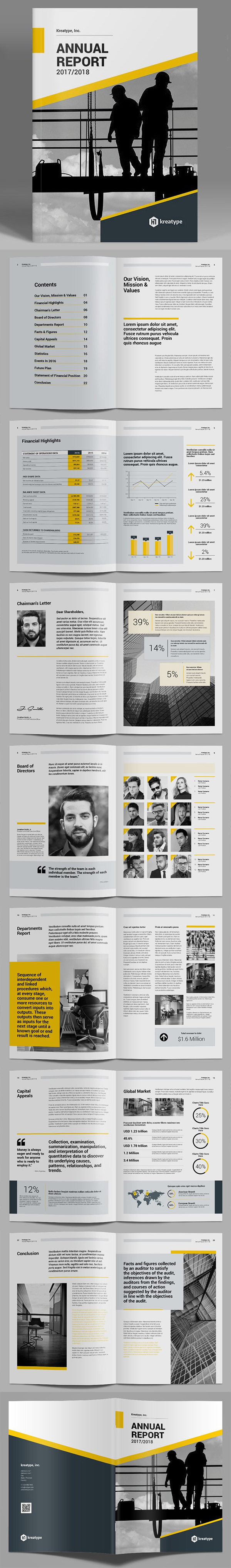 Kreatype Annual Report Template