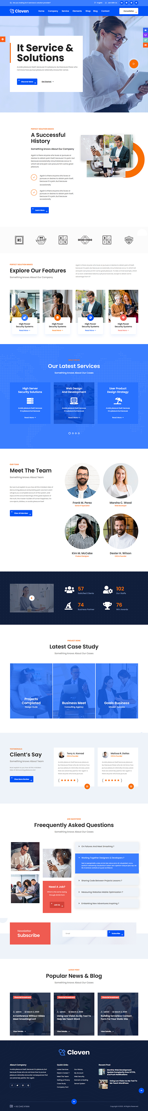 Cloven - IT Solutions Services Company WordPress Theme