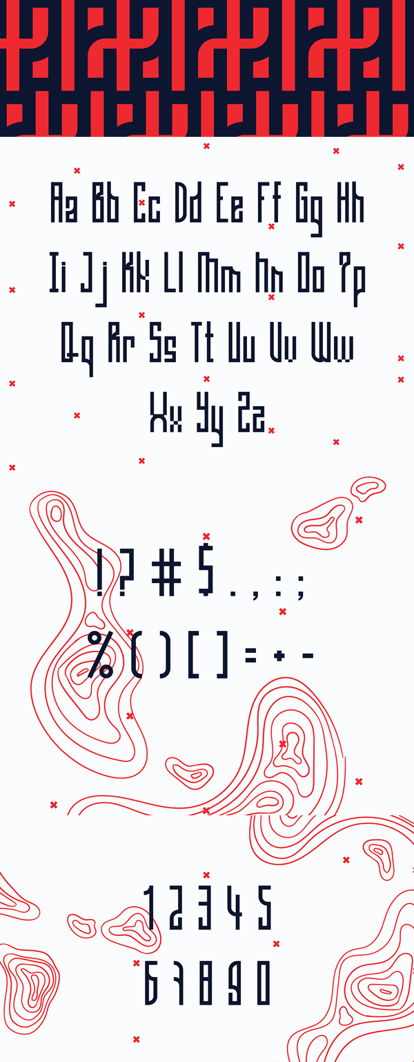 Gaia Condensed Font Letters