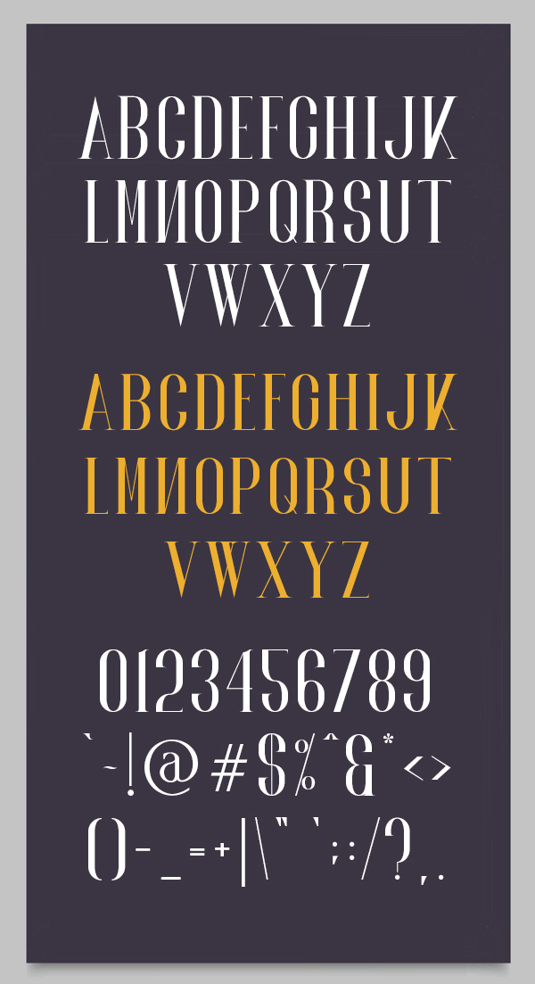 Norland Font Letters