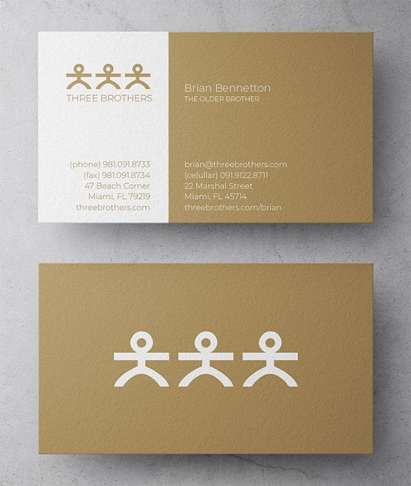 Three Brothers Law Business Card Design