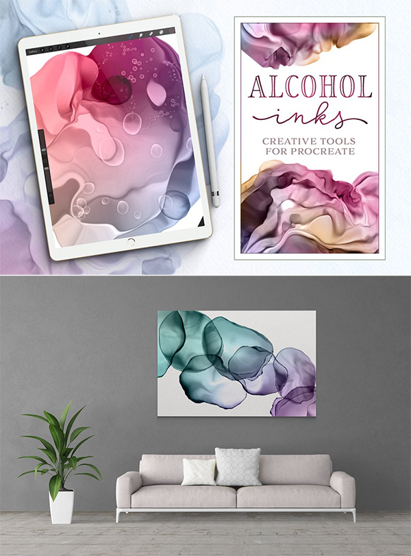 Dynamic Alcohol Inks for Procreate
