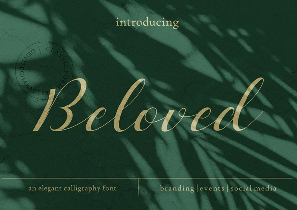 Beloved Romantic Script Free Font