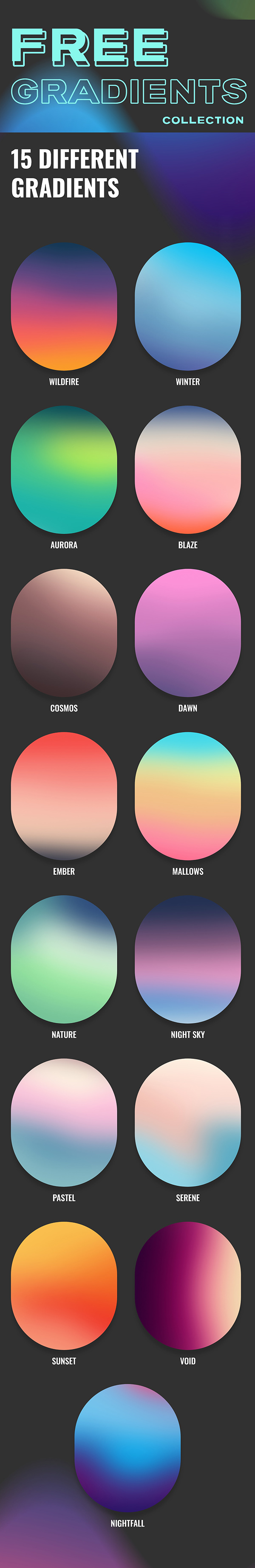 Free 15 High Quality Gradients