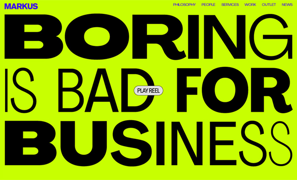 Large Typography in Web Design