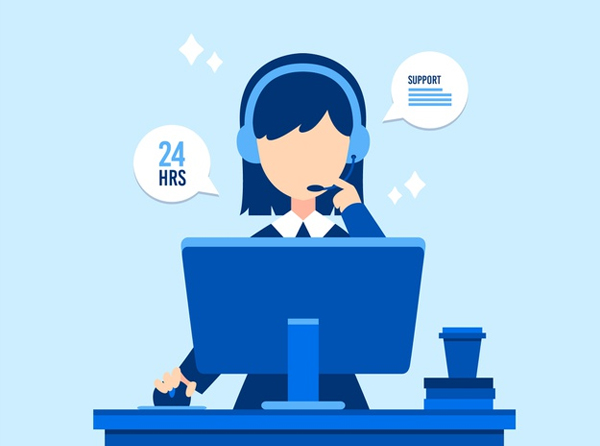 Use live chat to address customer queries
