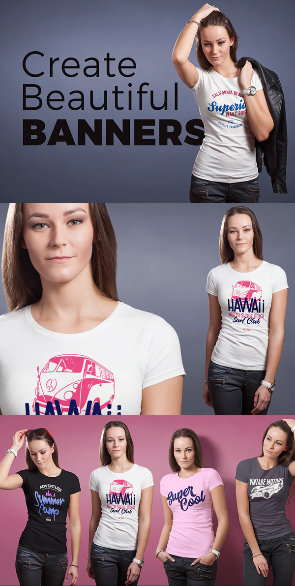 Attractive T-shirt Mock-up Female