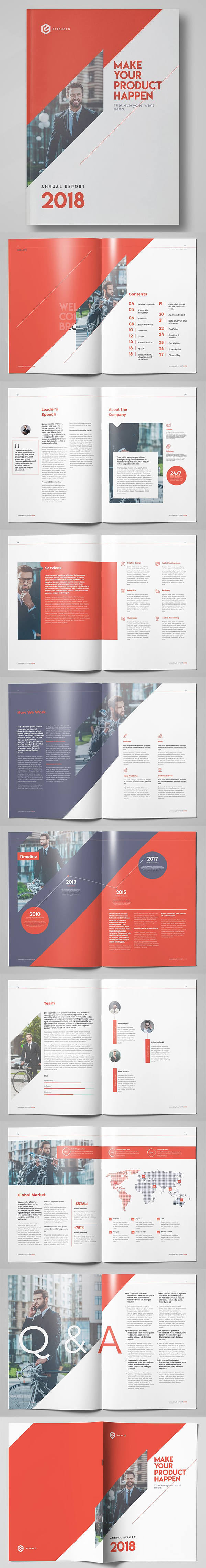 Awesome Business Annual Report Template