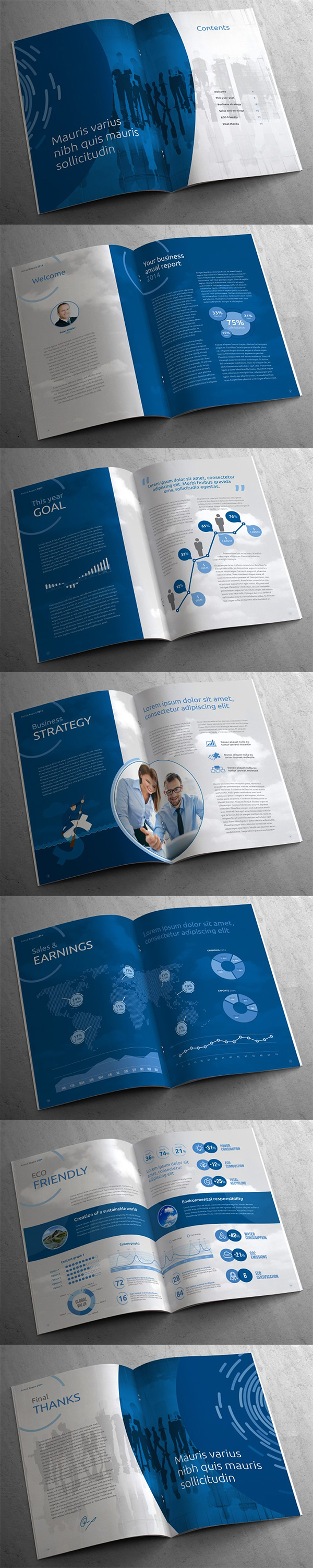 A4 Business Annual Report Template