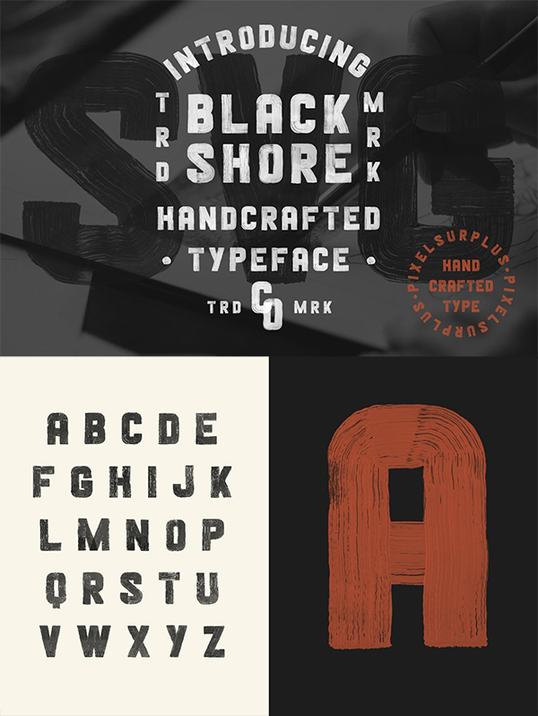 Blackshore - Hand Painted SVG Font