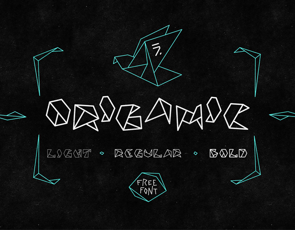 ORIGAMIC Free Hipster Font