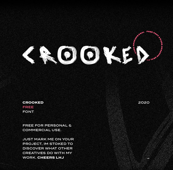 Crooked Free Hipster Font