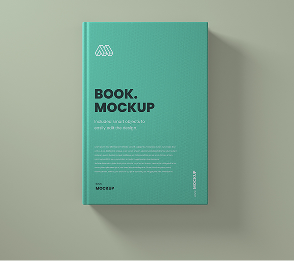 Free Top View Book PSD Mockup PSD