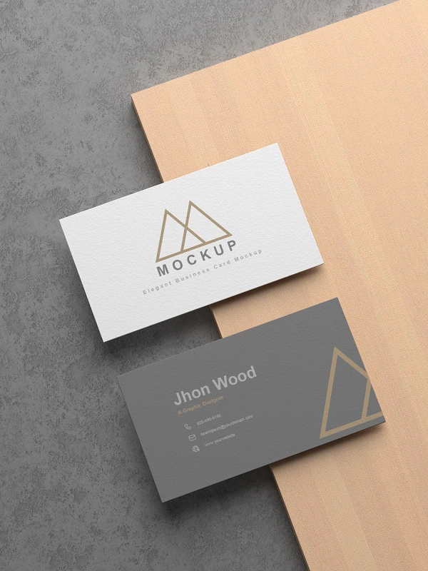 Free Elegant Business Card Mockup PSD