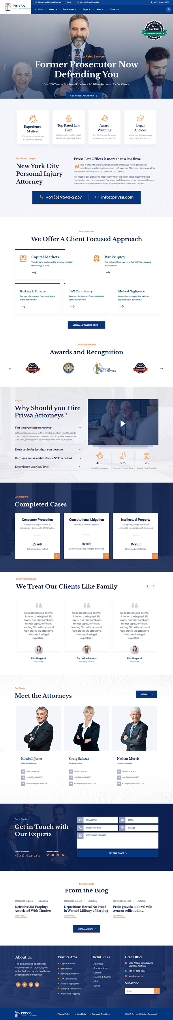 Privsa - Attorney and Lawyer WordPress Theme