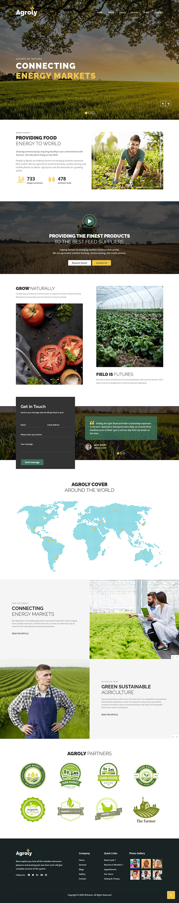 Agroly - Organic & Agriculture Food WordPress