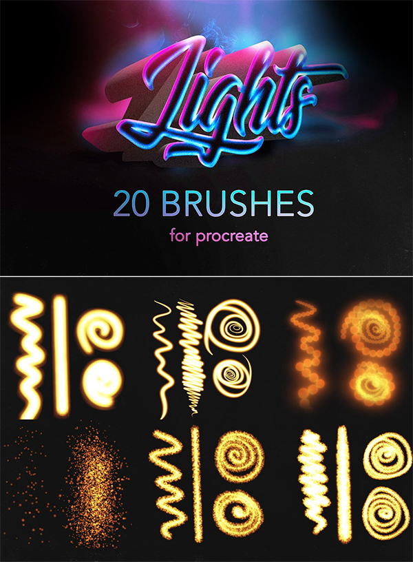 Procreate lights Brushes / Glow