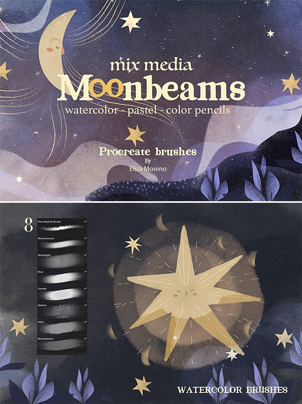 Moonbeams Mix Media Brushes