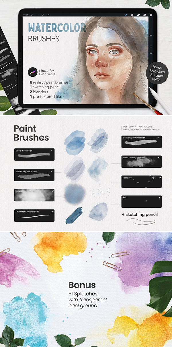 Awesome Watercolor Brushes
