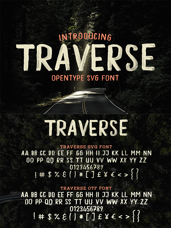 Traverse - Hand Drawn Font
