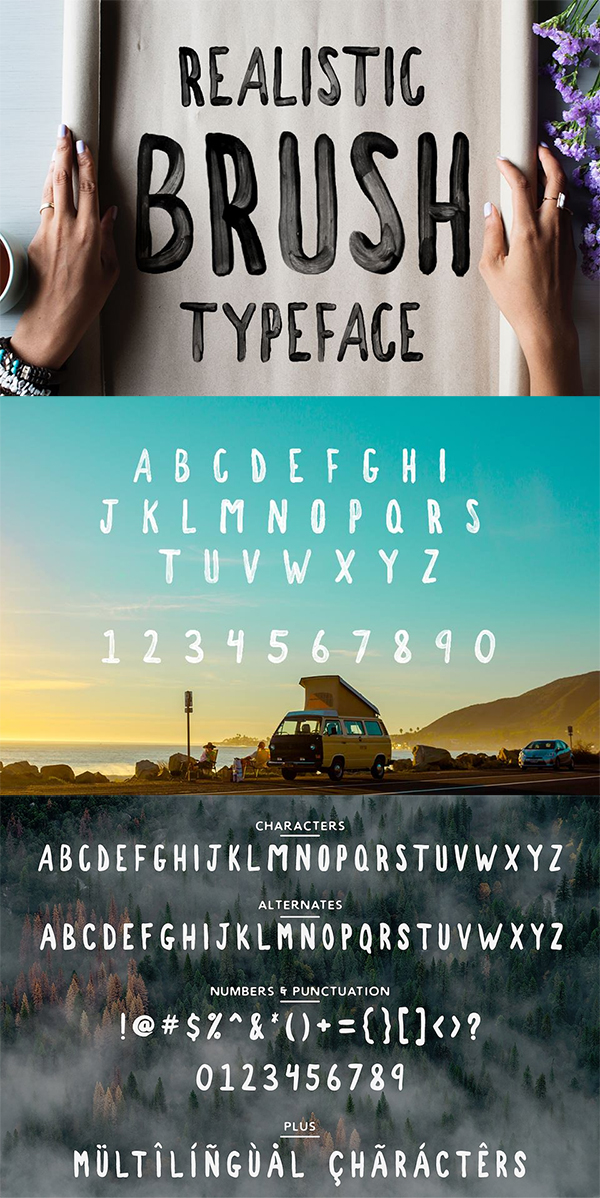 Westfalia SVG - Hand Drawn Font