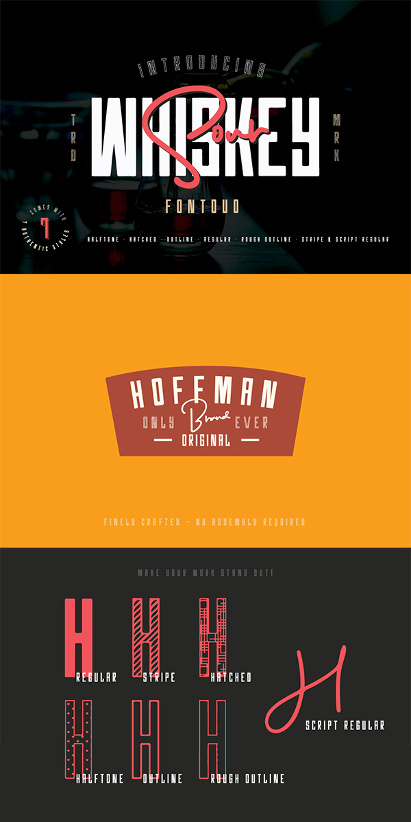 Whiskey Sour - Vintage Font