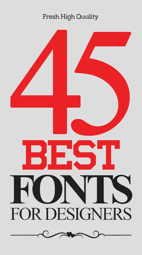 45 Best Fonts For Graphic Designers