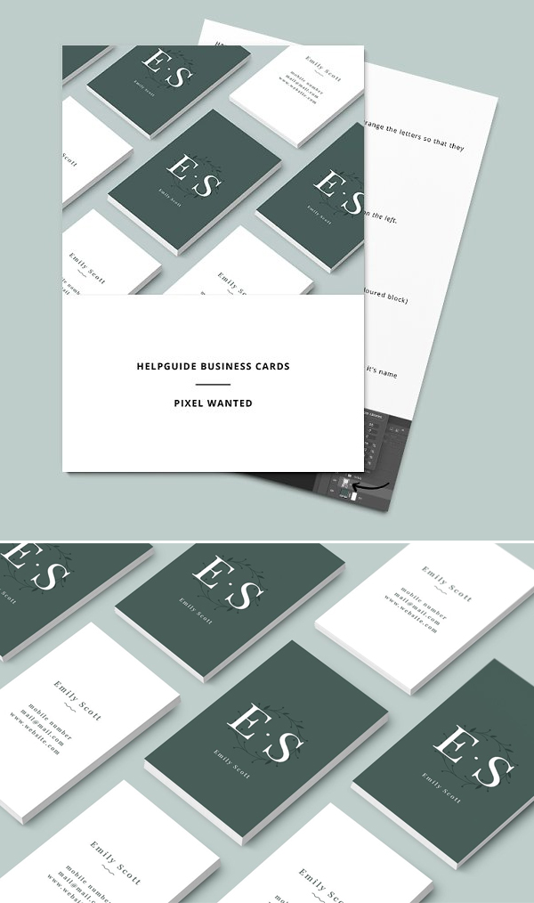 Green Floral Creative Business Card