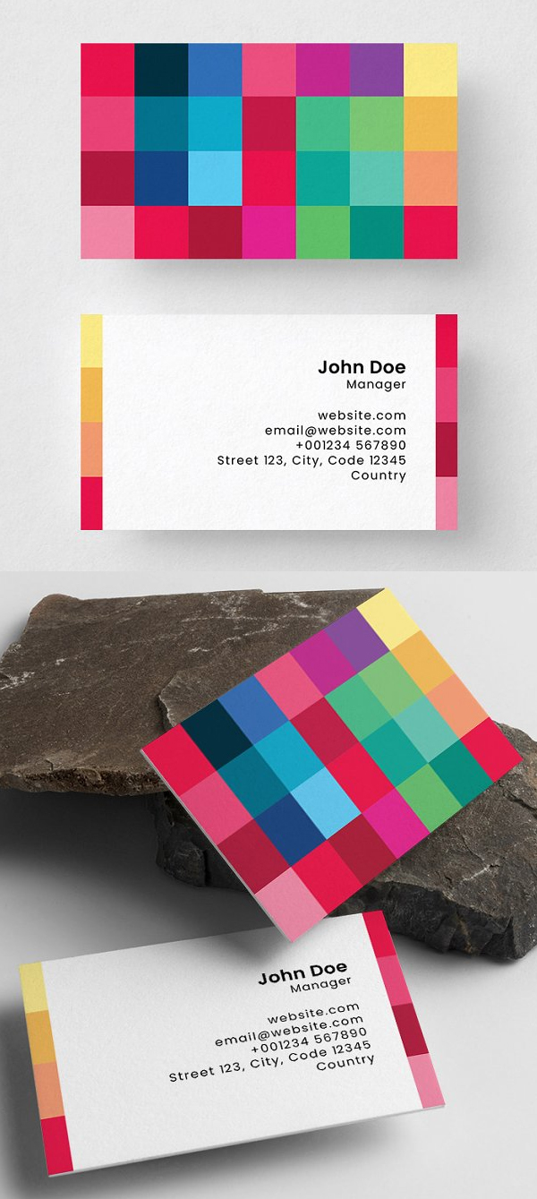Rectangles Business Card Template