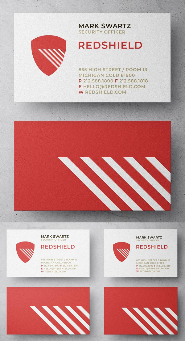 Red Shield Security Business Card