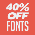 Post thumbnail of 40% OFF Sale On Premium Fonts