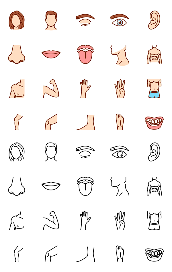 Free Human Body Parts Icons - 20 Icons