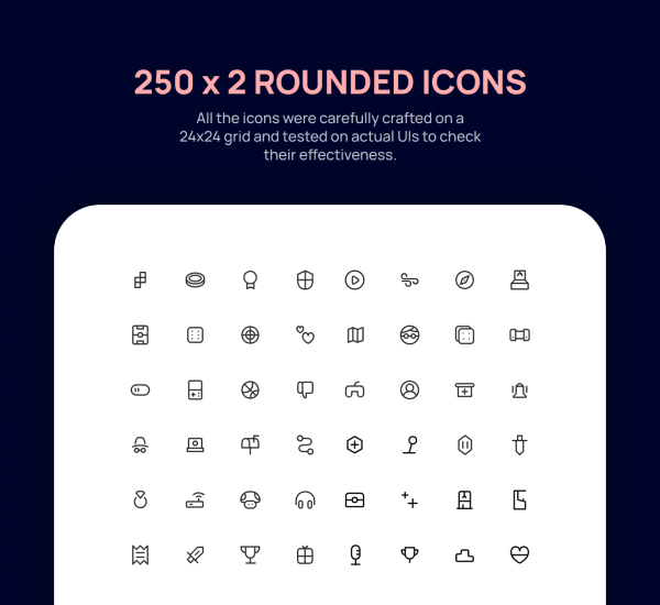 Free Rounded Icons - 250 Icons