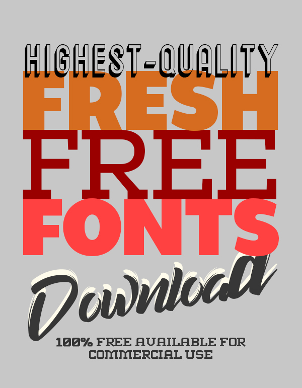 17 Fresh Free Fonts For Designers